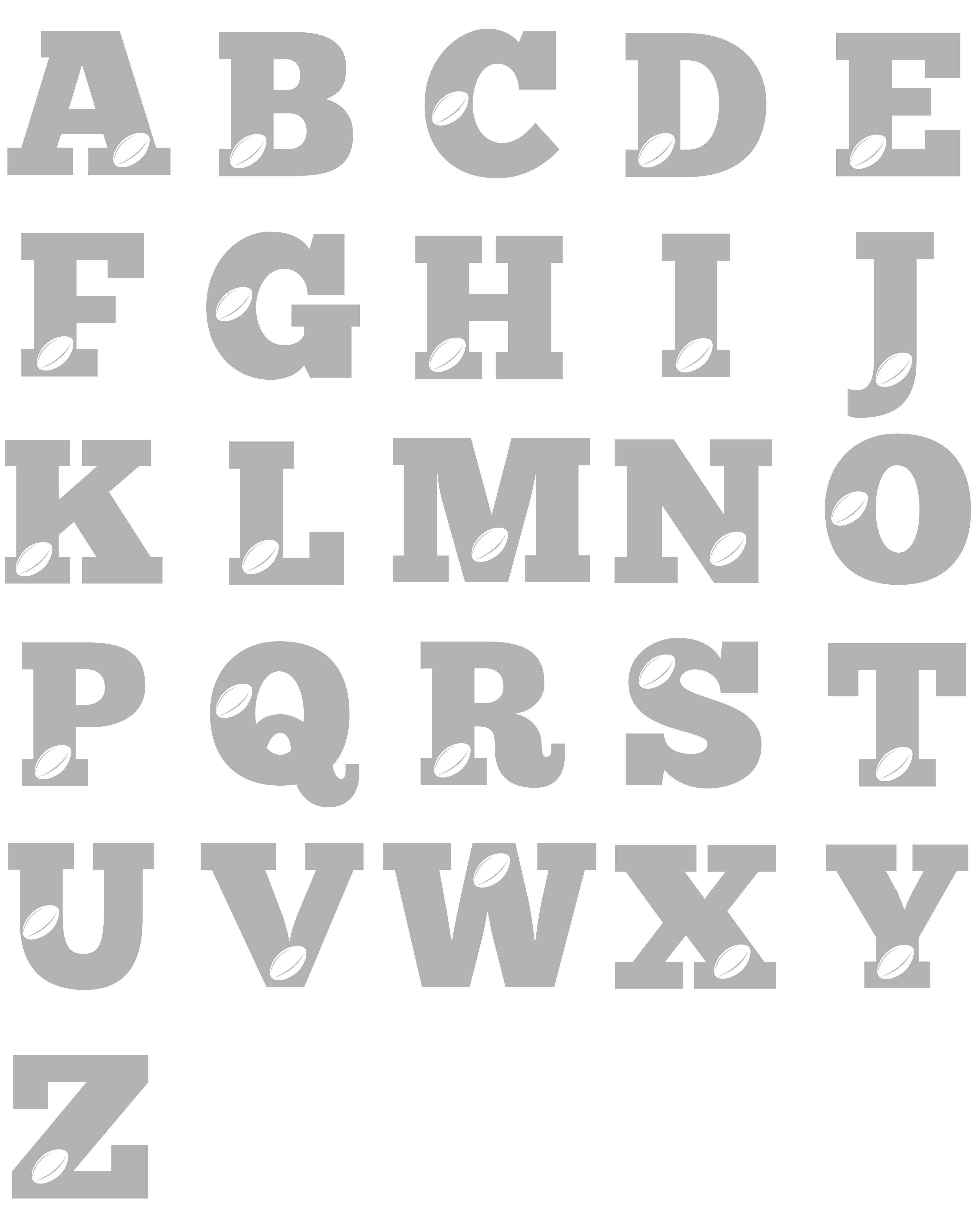 Rugby Alphabet