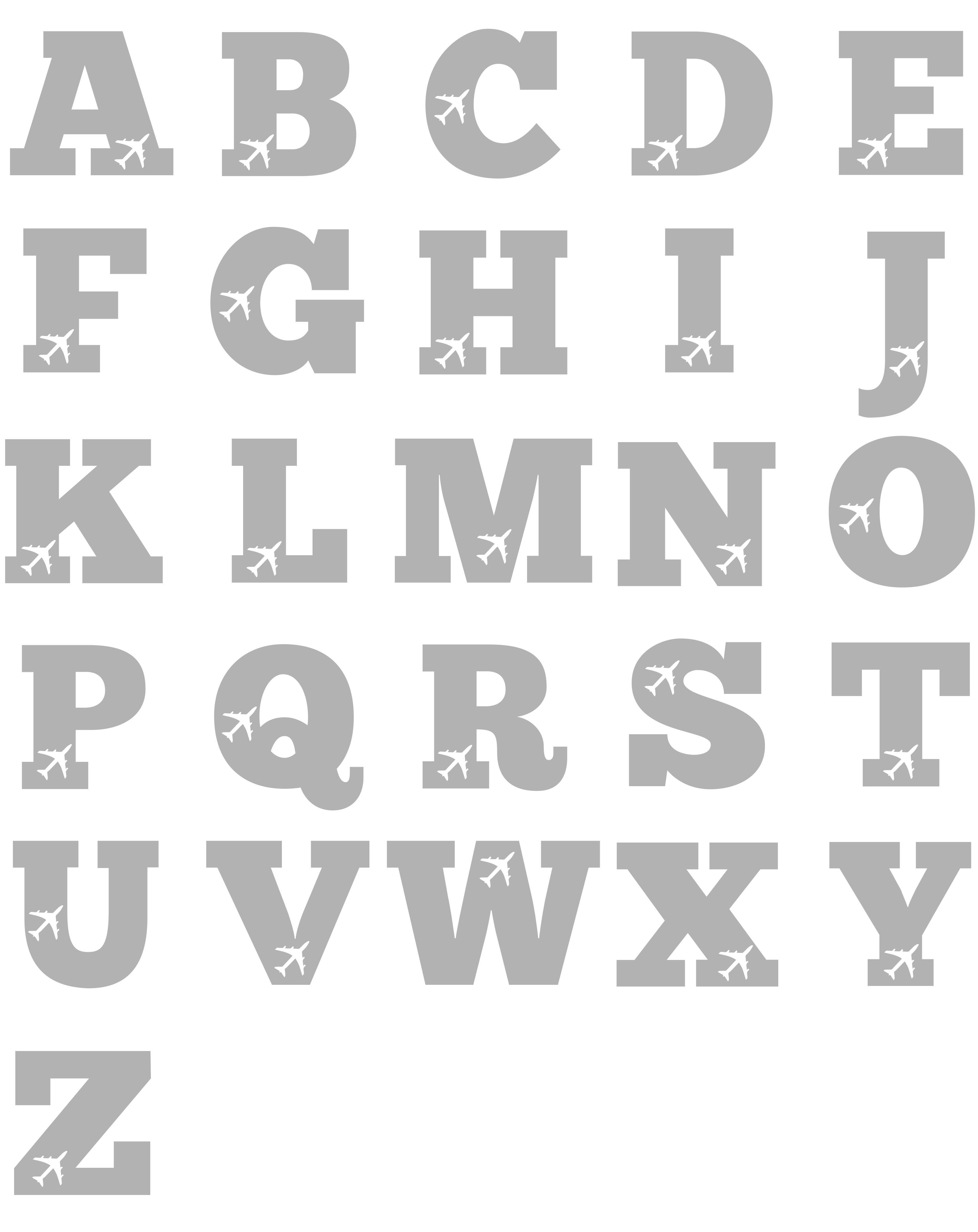 Aeroplane Alphabet