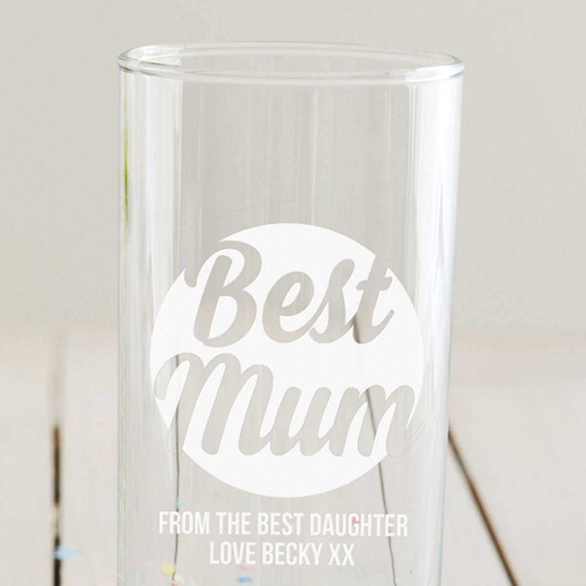 Personalised 'Best Mum' Hi Ball Glass