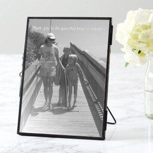 Personalised Black Edged Photo Frame For Mum