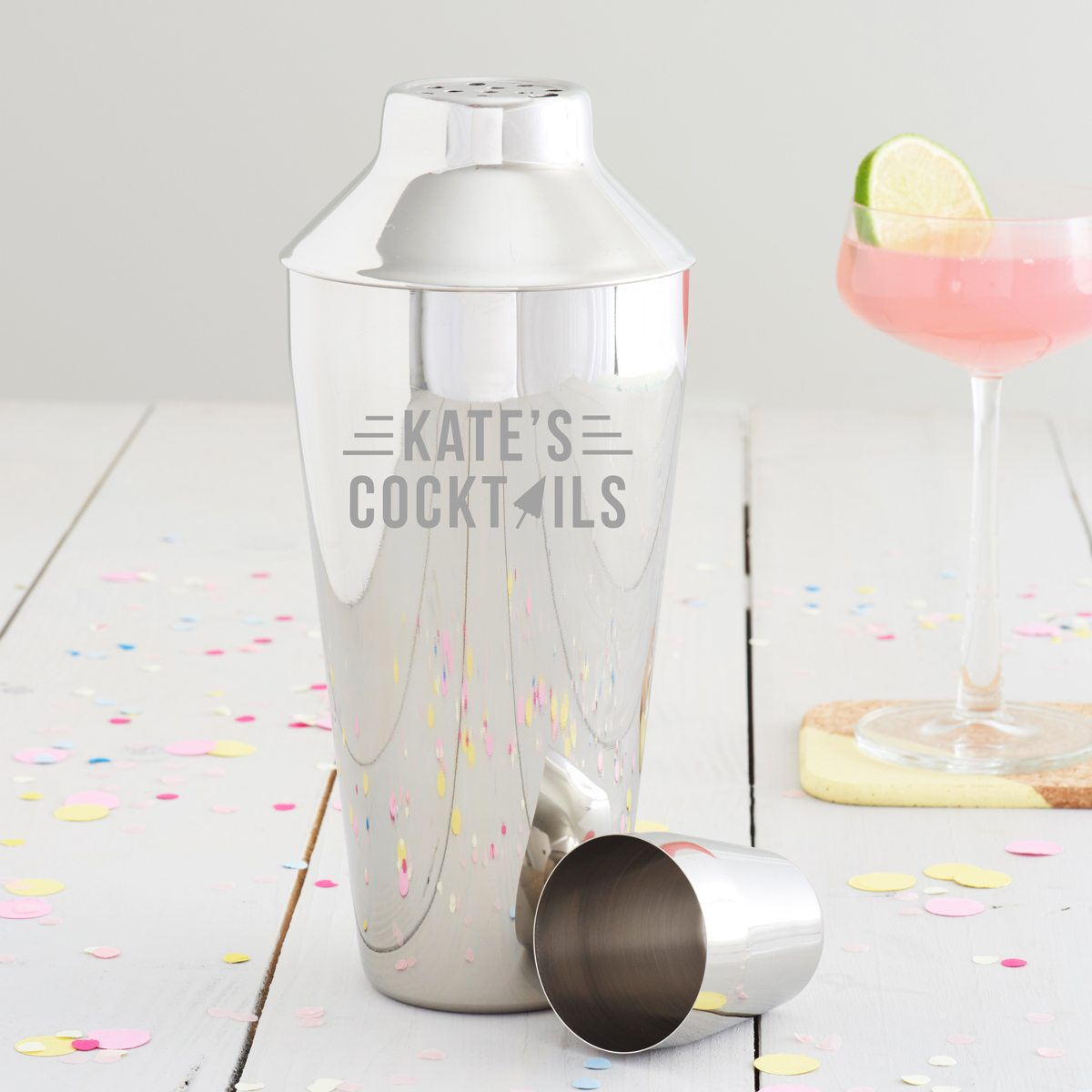 Personalised Cocktail Umbrella Cocktail Shaker