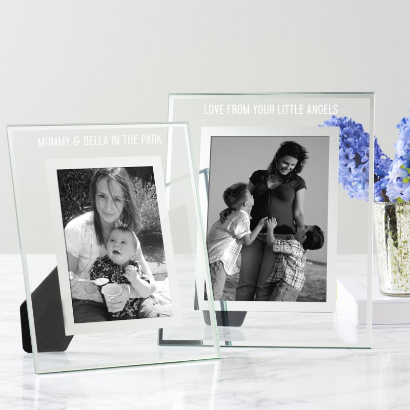 personalised glass edged photo frame for becky broome
