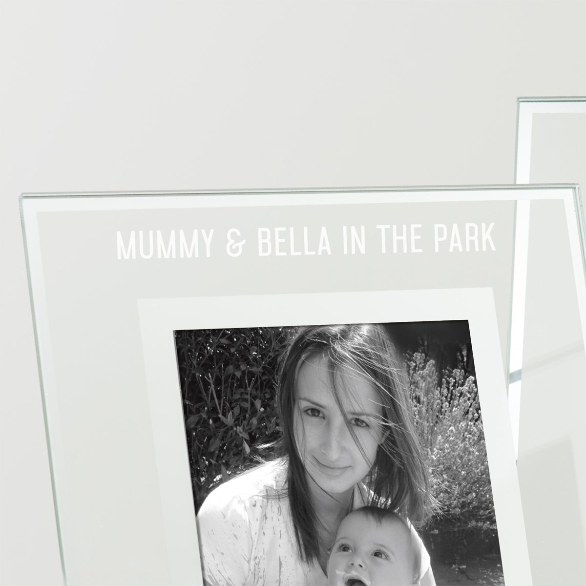Personalised Glass Edged Photo Frame For Mum