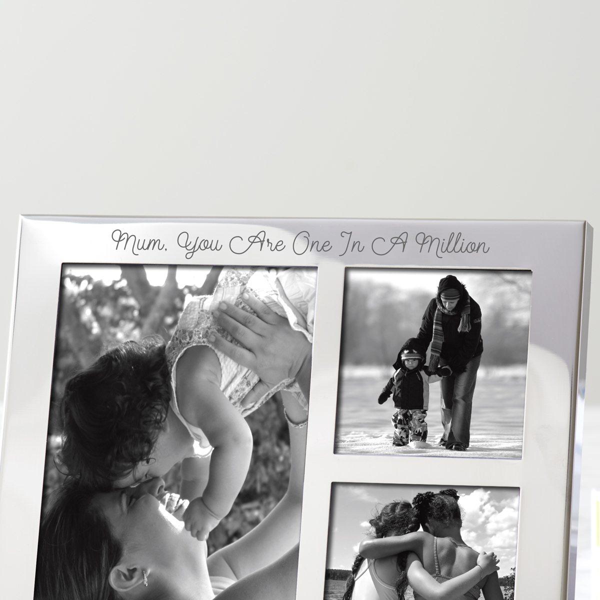 Personalised Multi Frame Trio For Mum