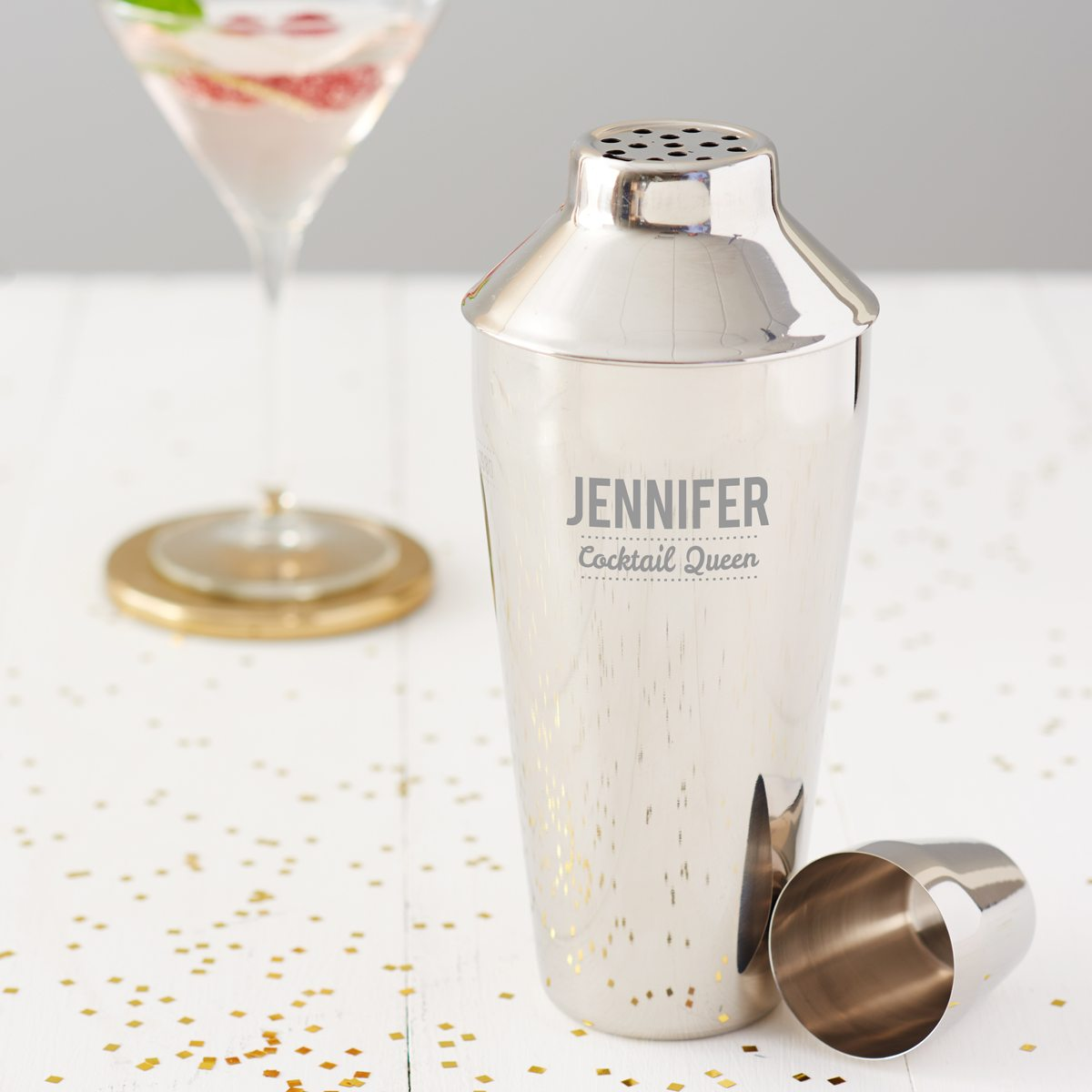 Personalised 'Cocktail Queen' Cocktail Shaker