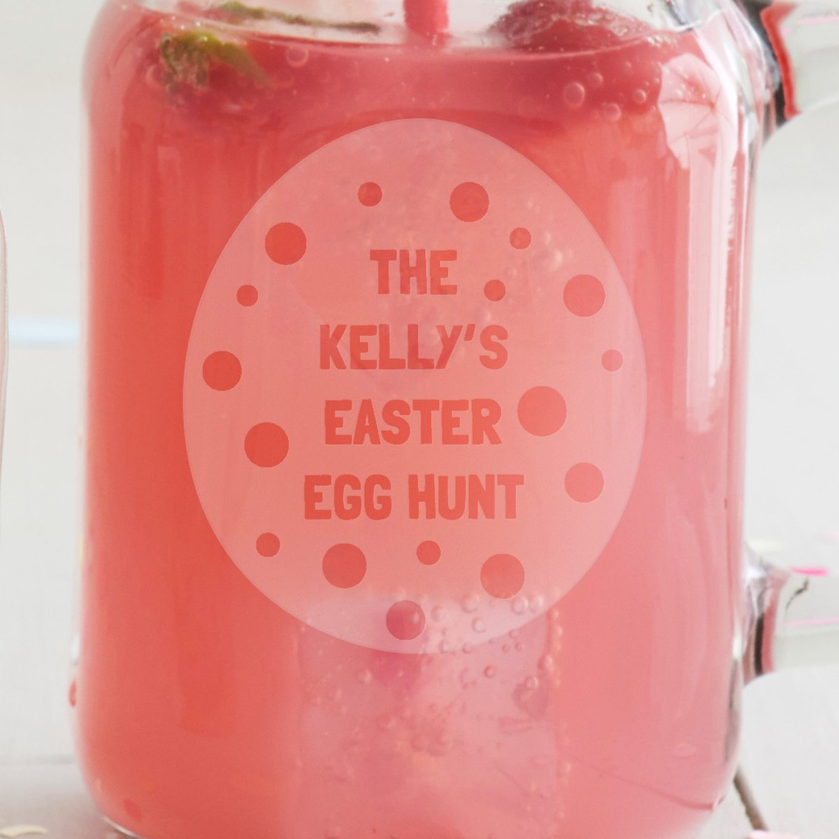 Personalised 'Easter Egg' Handled Jar