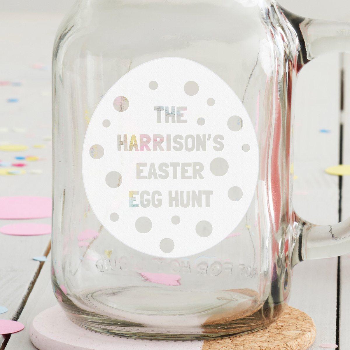 Personalised 'Easter Egg' Handled Jar