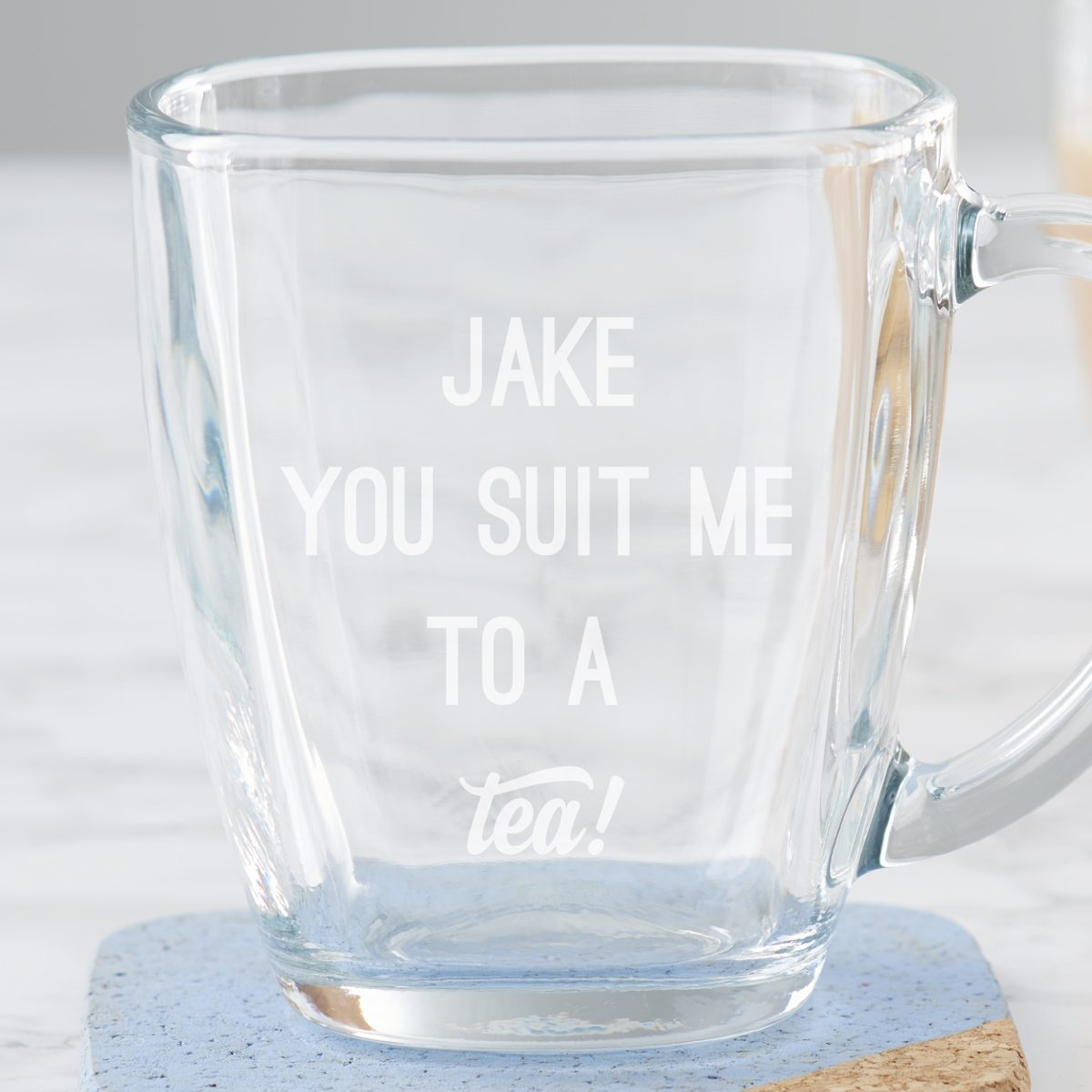 Personalised 'You Suit Me To A Tea' Mug
