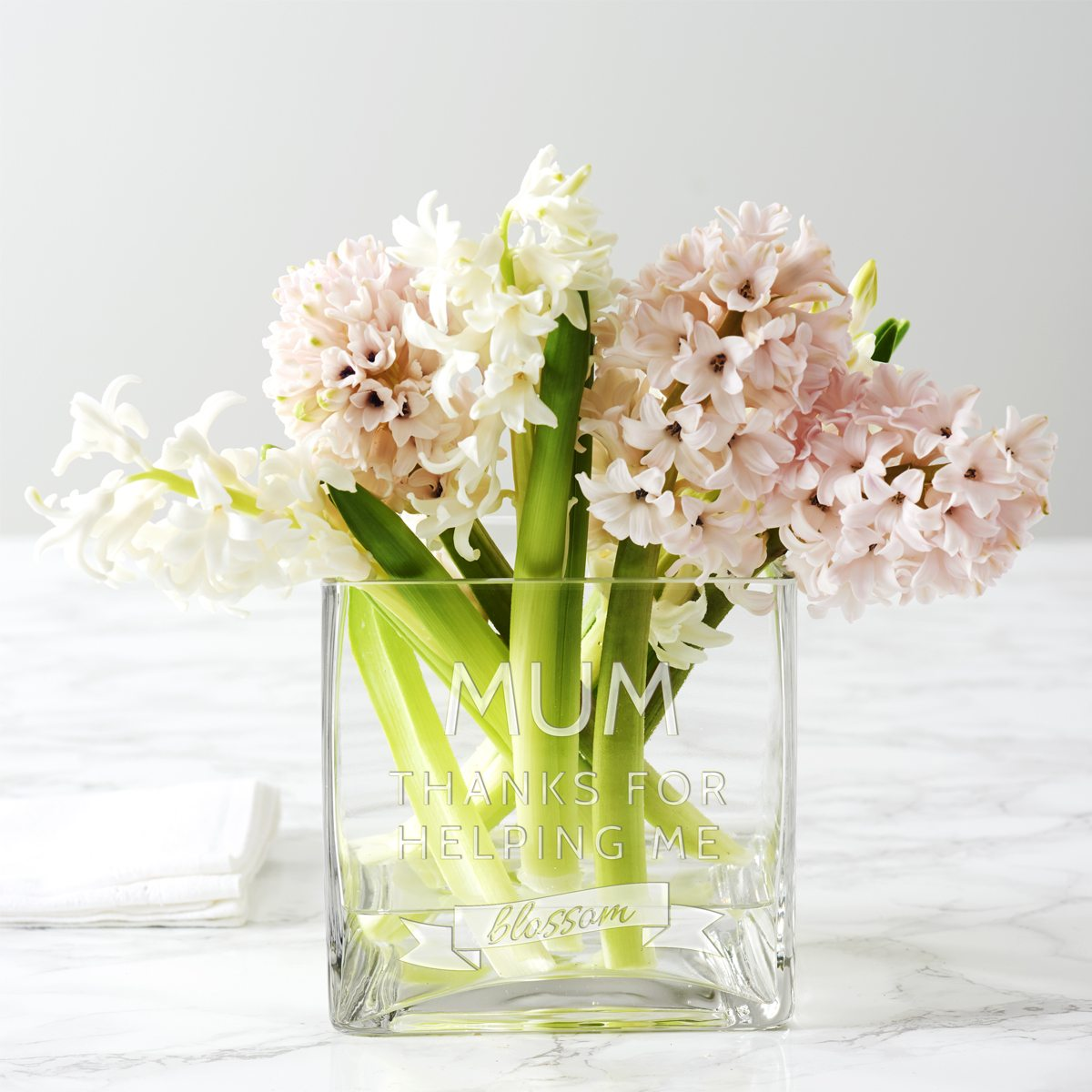 Personalised 'Thank You' Square Vase