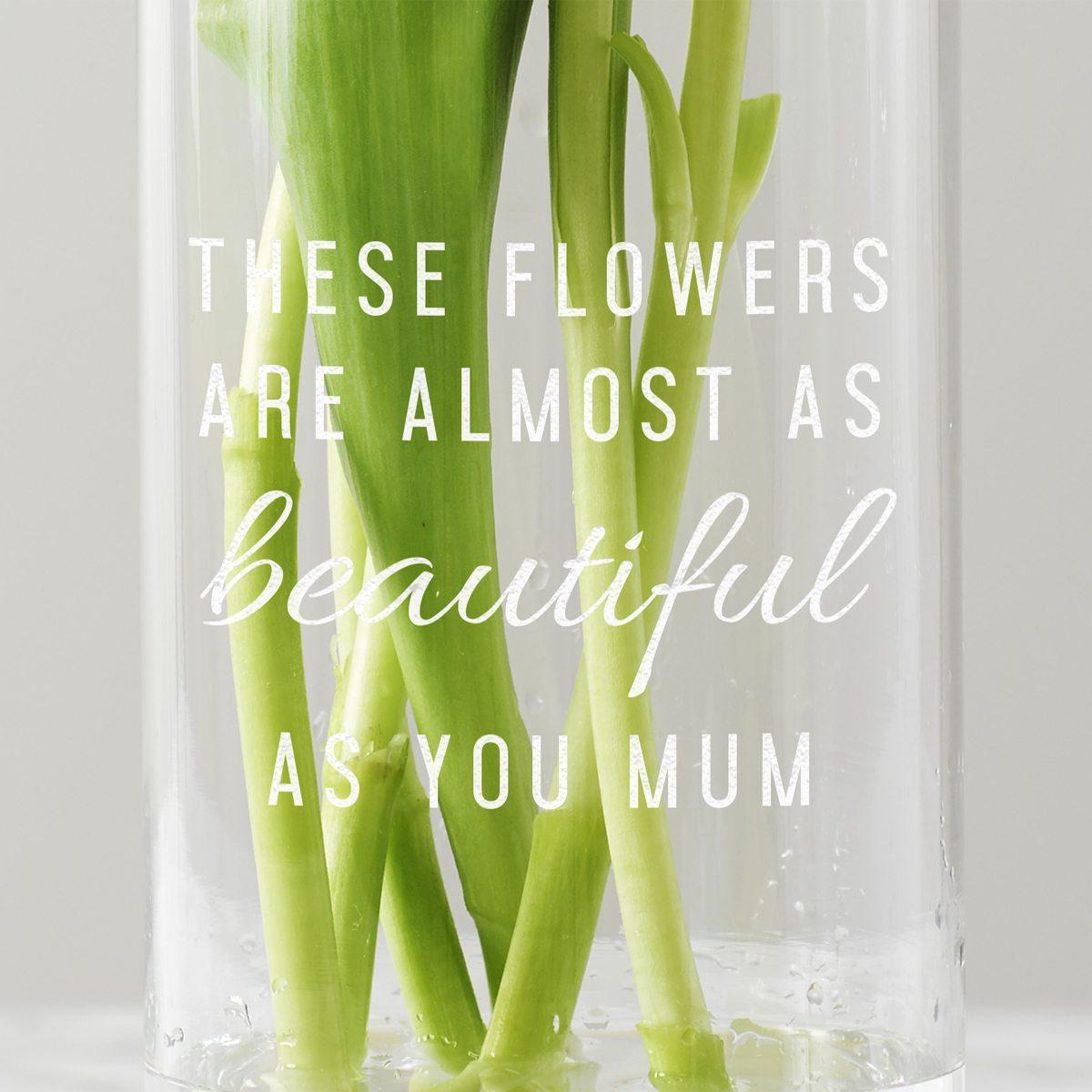 Personalised 'These Flowers…' Vase