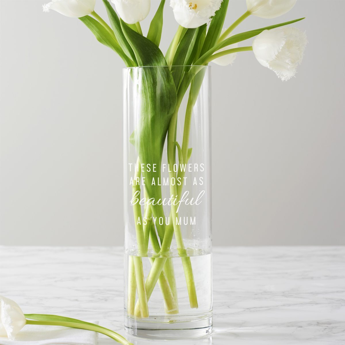 Personalised 'These Flowers…' Vase