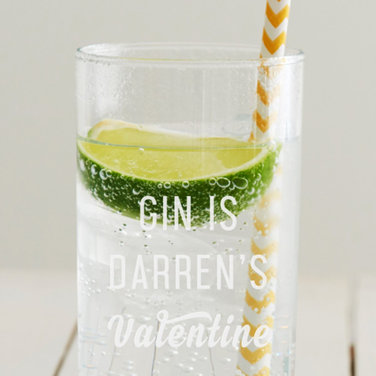 Personalised 'Valentine' Hi Ball Glass