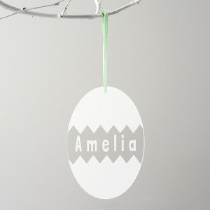 Personalised Cracked Egg Easter Decoration