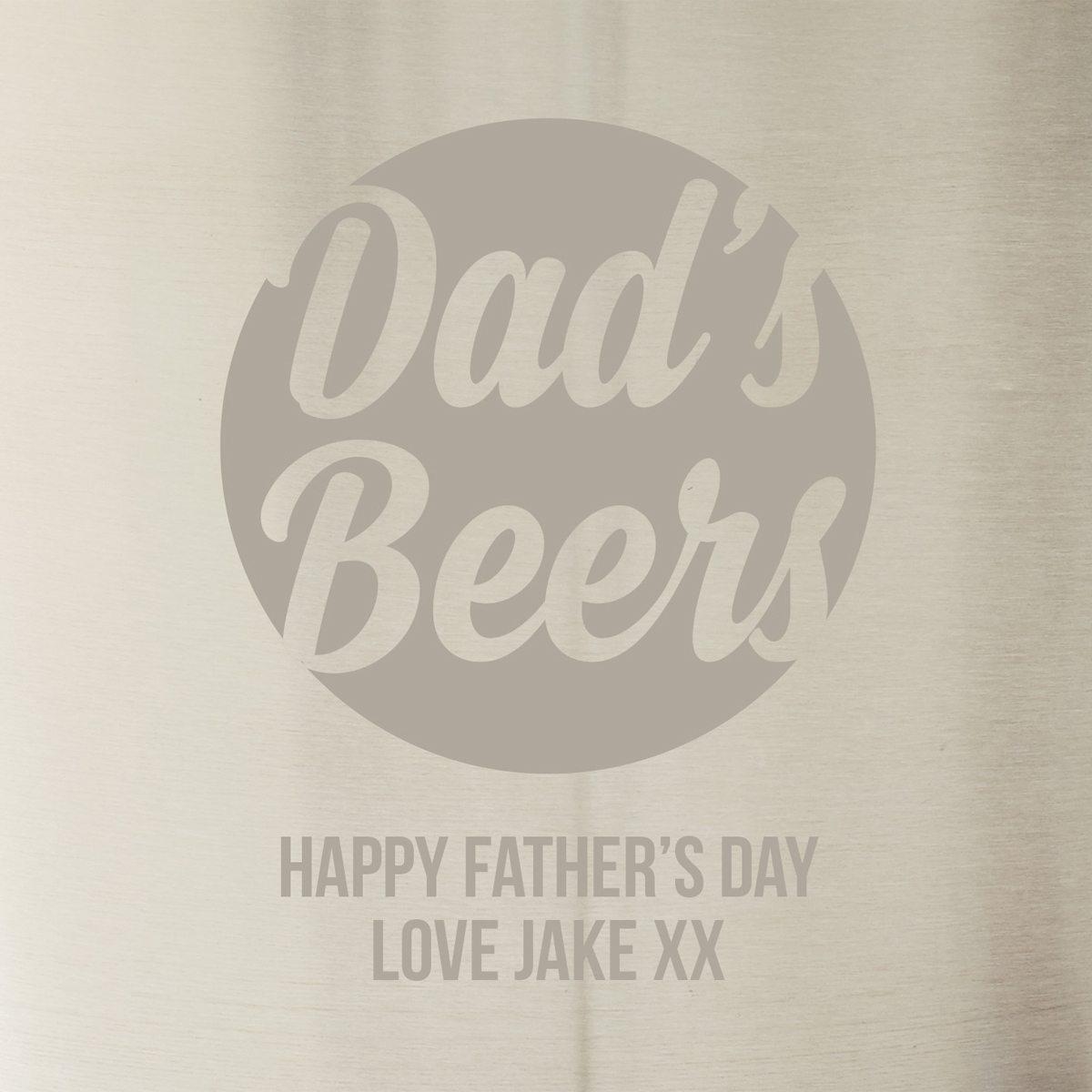 Personalised Beer Bucket For Dad