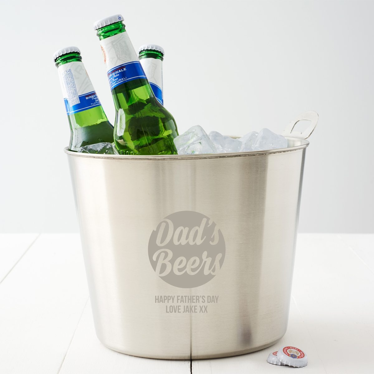 Personalised Beer Bucket For Dad