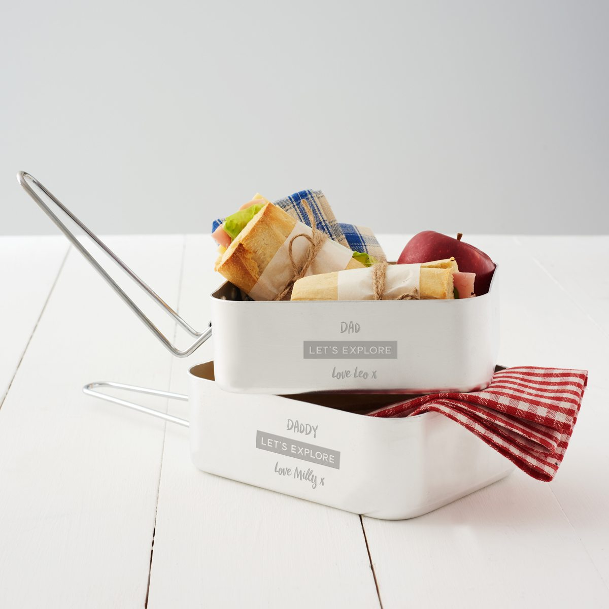 Personalised Mess Tin Set For Dad