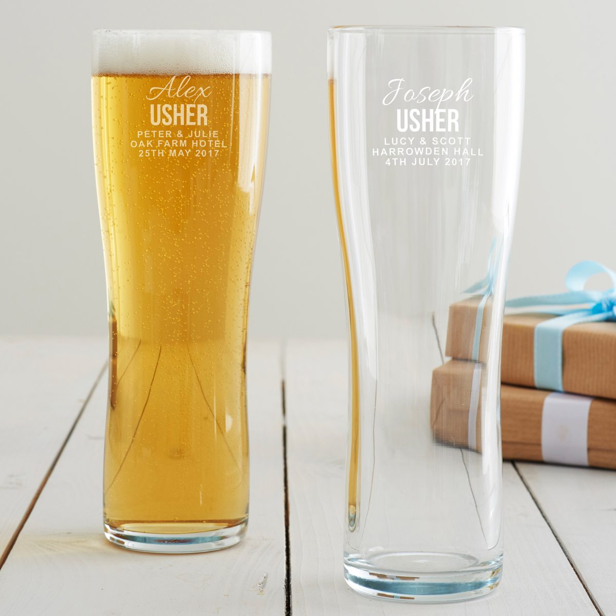 Personalised Usher Pint Glass