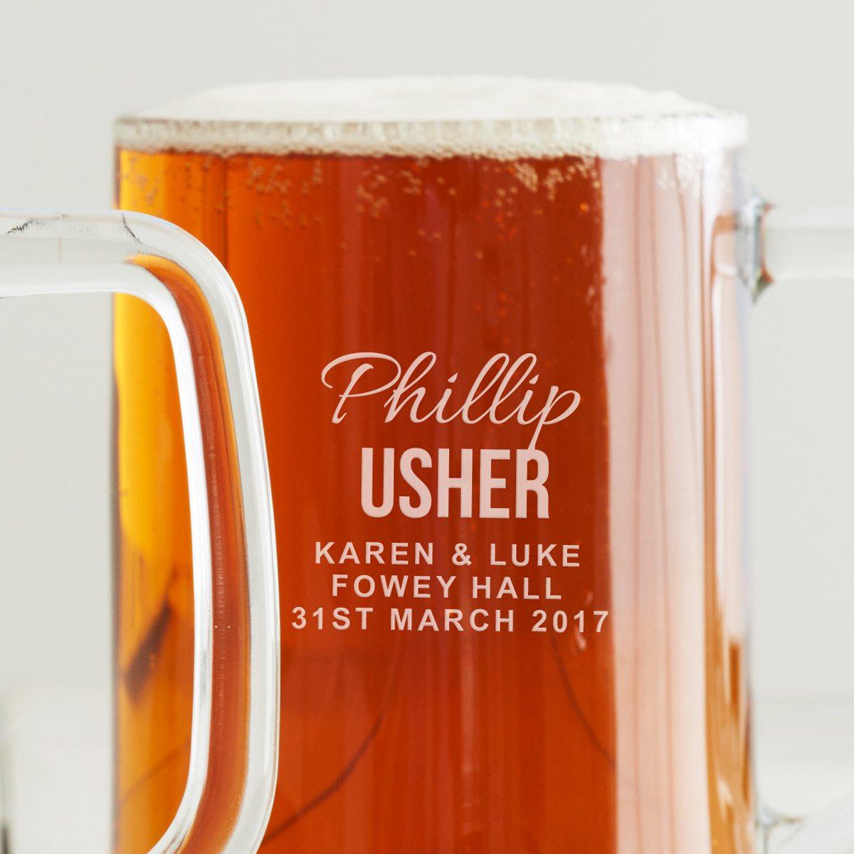 Personalised Usher Tankard