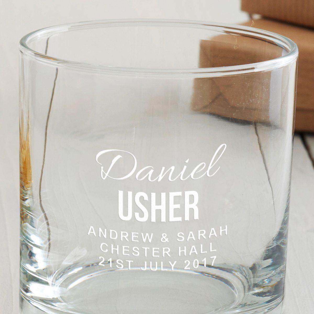 Personalised Usher Tumbler Glass