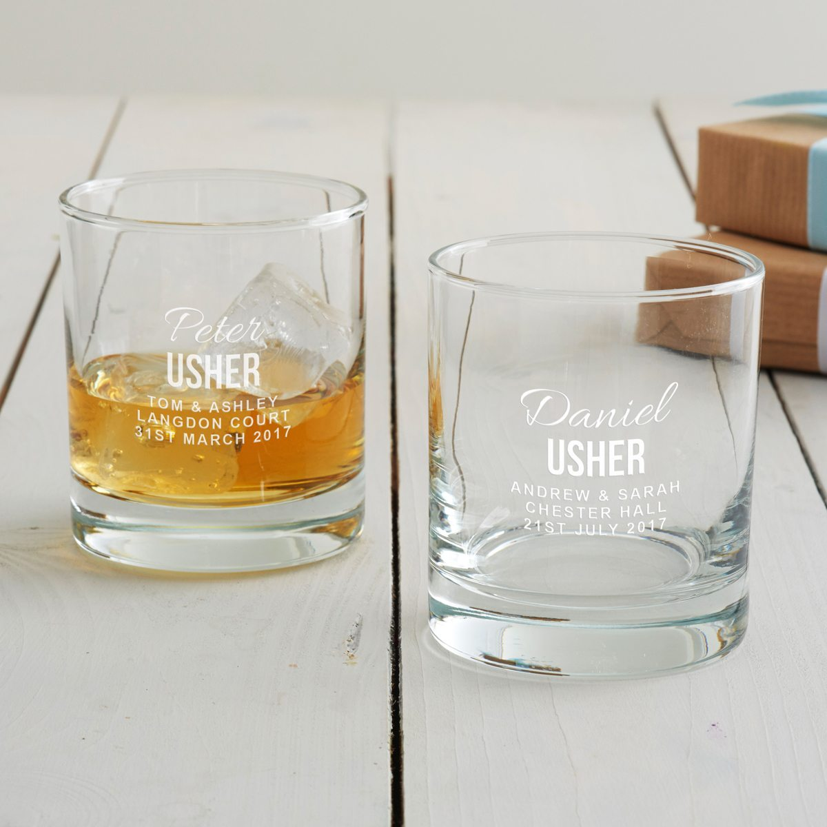 Personalised Usher Tumbler Glass