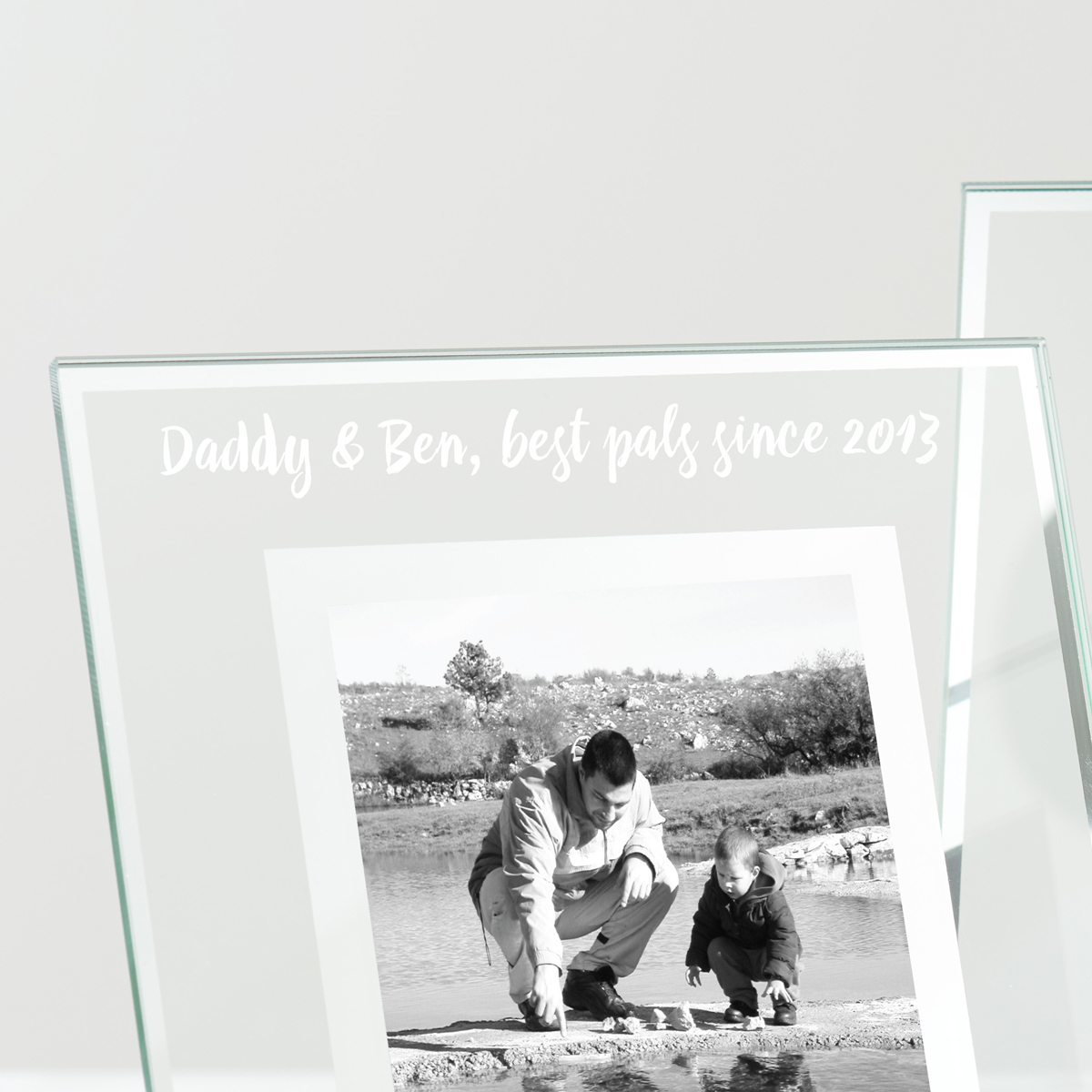 Personalised Glass Edged Frame For Dad