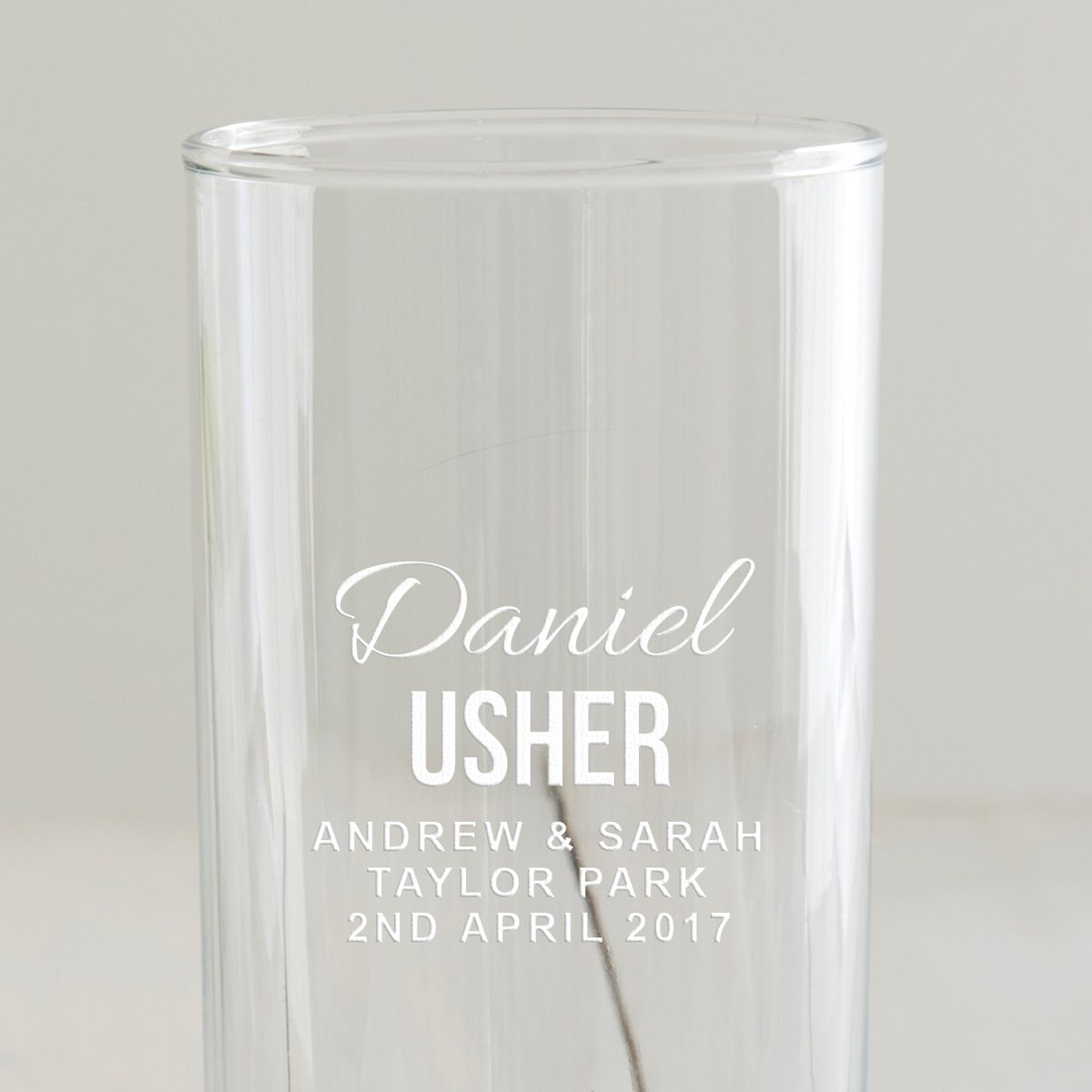 Personalised Usher Hi Ball Glass