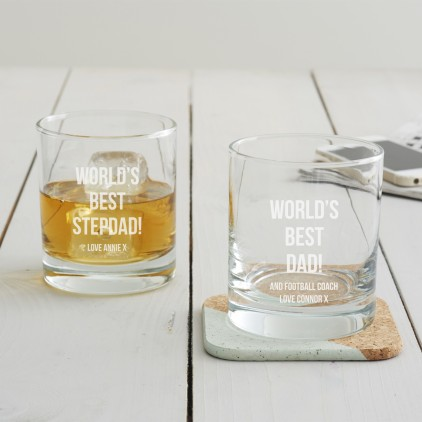 Personalised 'Best Dad' Whisky Glass