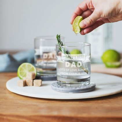Personalised Best Dad Whisky Glass