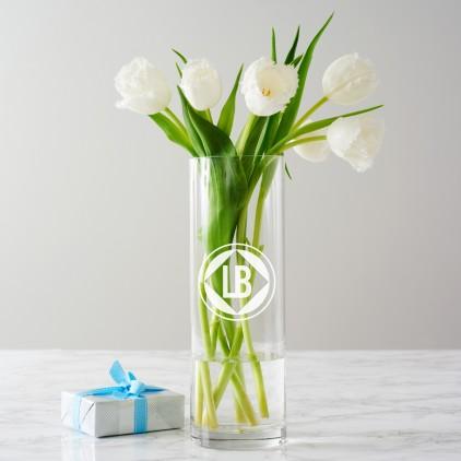 Personalised Circular Initials Monogram Vase
