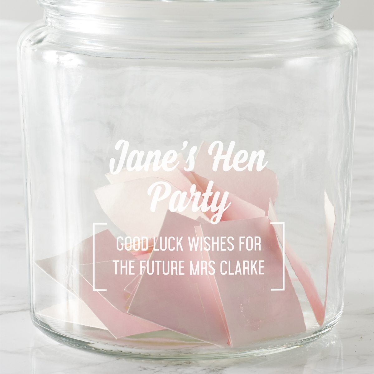 Personalised Hen Party Jar