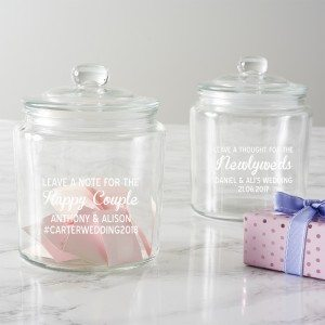 Personalised Leave A Note Wedding Jar