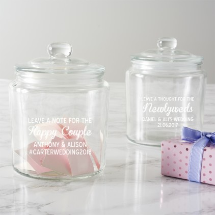 Personalised Leave A Note Wedding Jar