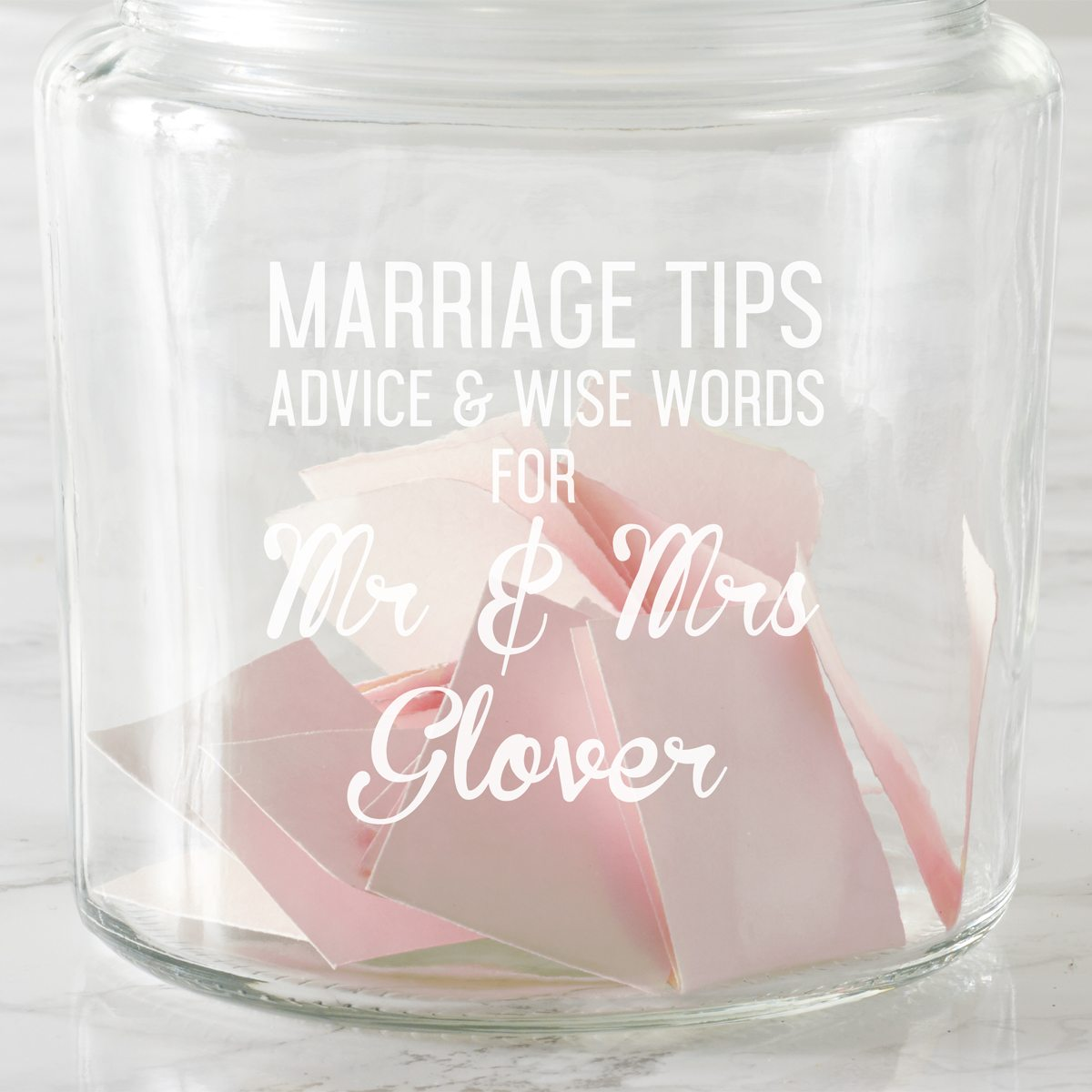 Personalised Marriage Tips Jar