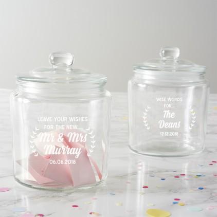 Personalised Wishes Wedding Jar