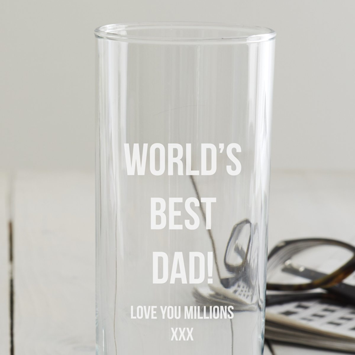 Personalised 'Best Dad' Hi Ball Glass