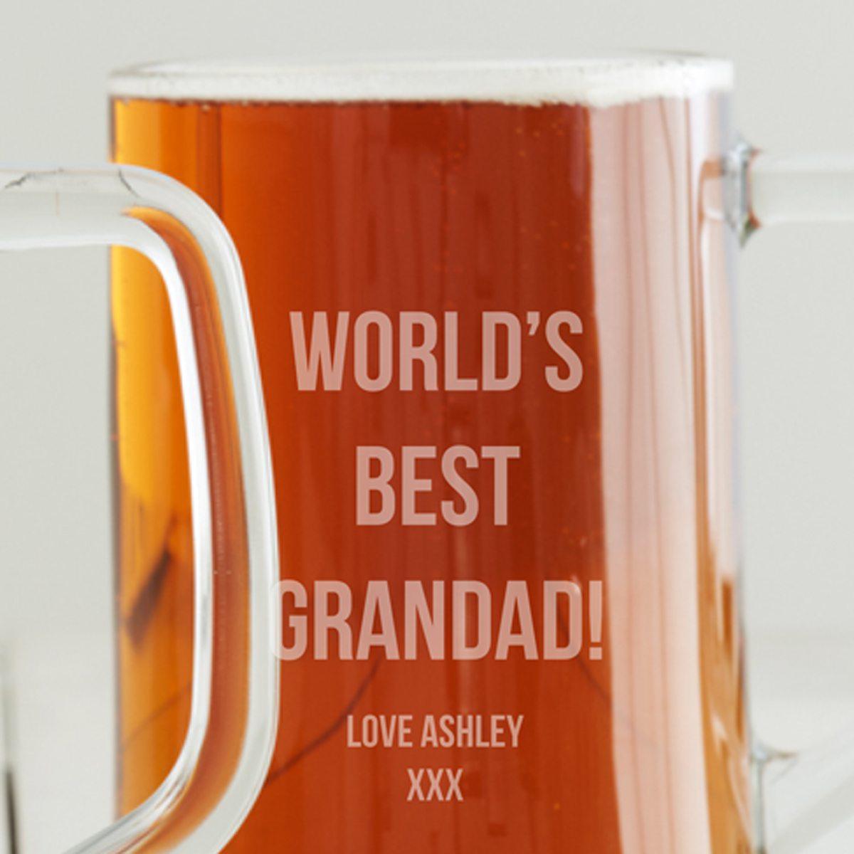 Personalised 'Best Dad' Beer Tankard