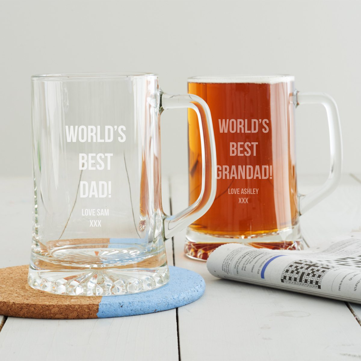 Personalised 'Best Dad' Beer Tankard