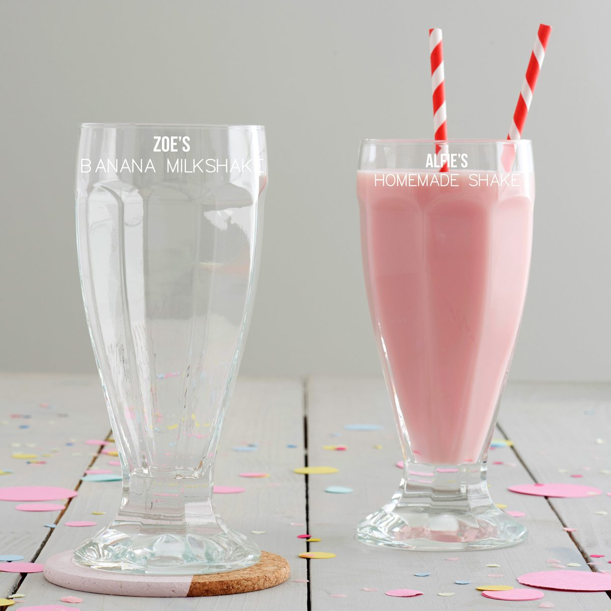 Personalised Milkshake Glass