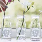 Personalised 'Mum' Bottle Bud Vases Lifestyle Detail