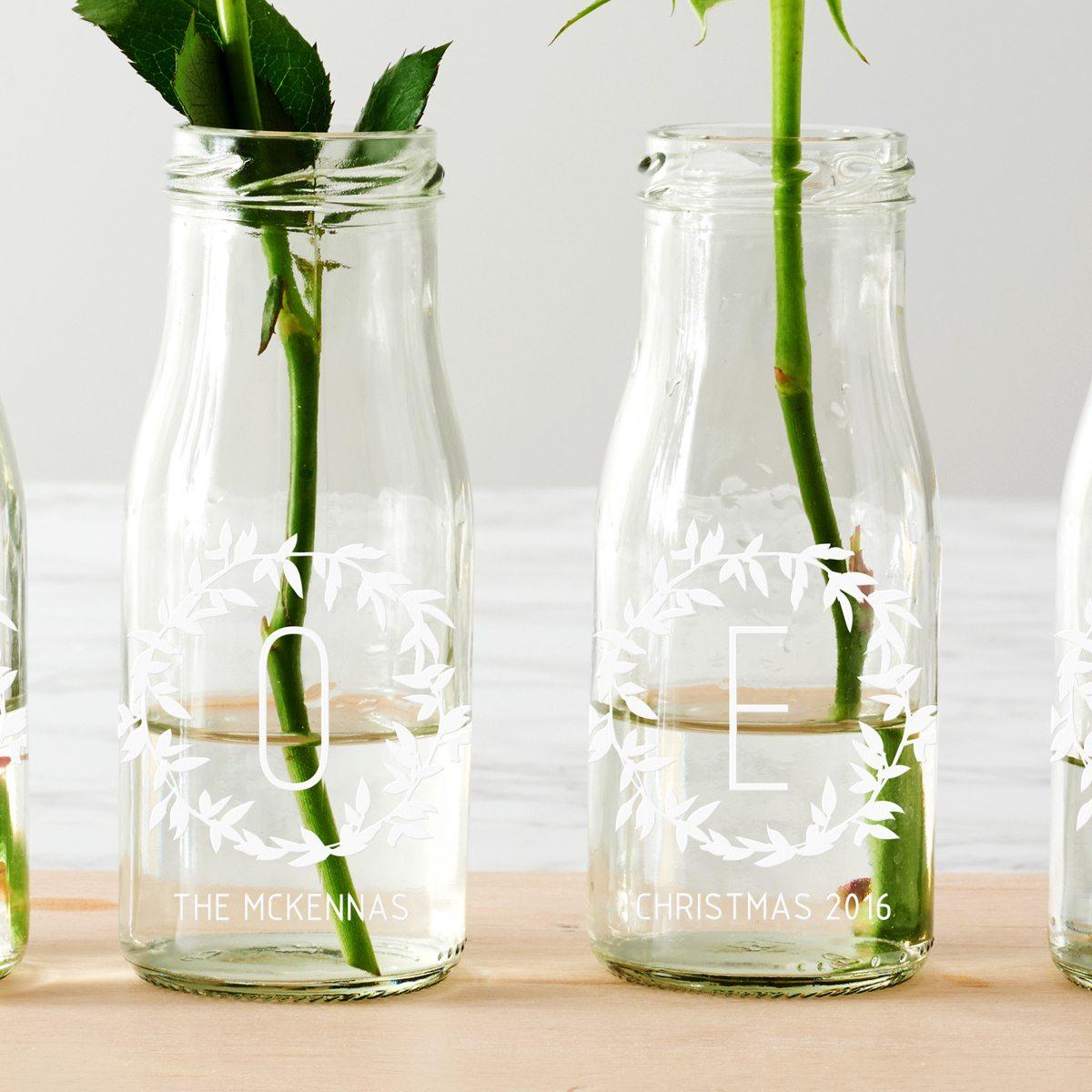 Personalised 'Noel' Bottle Bud Vases Cropped