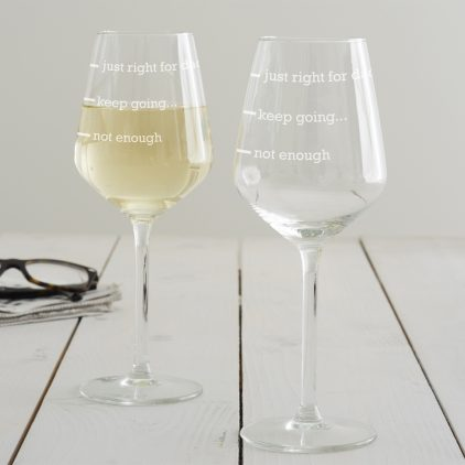Personalised 'Just Right For Dad' Wine Glass