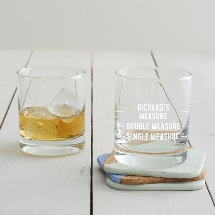 Personalised Drinks Measure Tumbler Glass