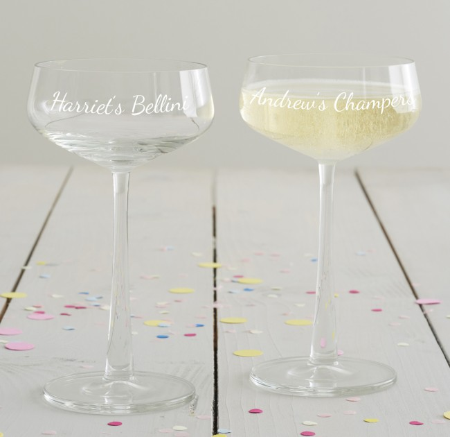 Personalised Champagne Saucer