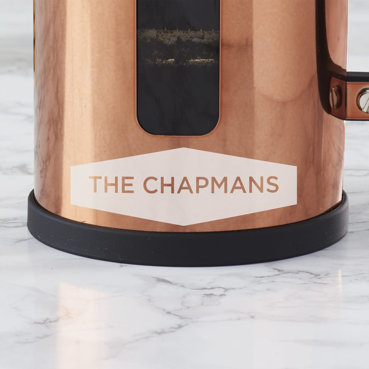 Personalised Geometric Copper Cafetiere