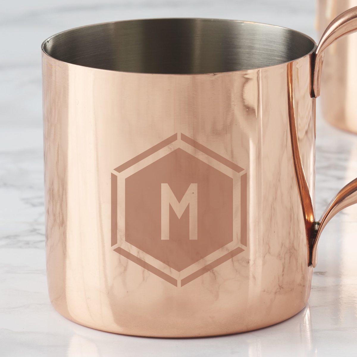 personalised-geometric-copper-mug-detail