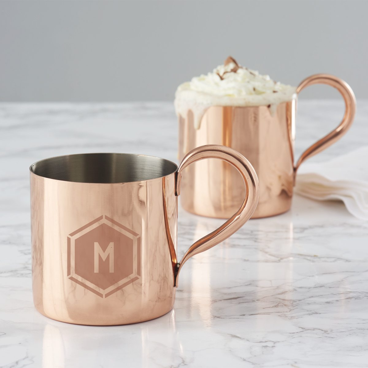 personalised-geometric-copper-mug