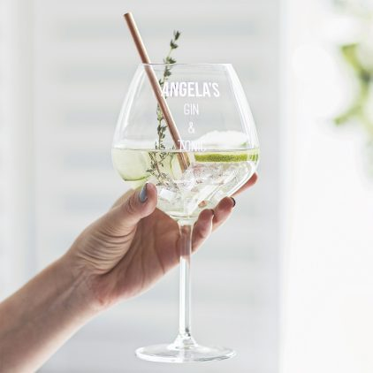 Personalised Goblet Glass Lifestyle Detail