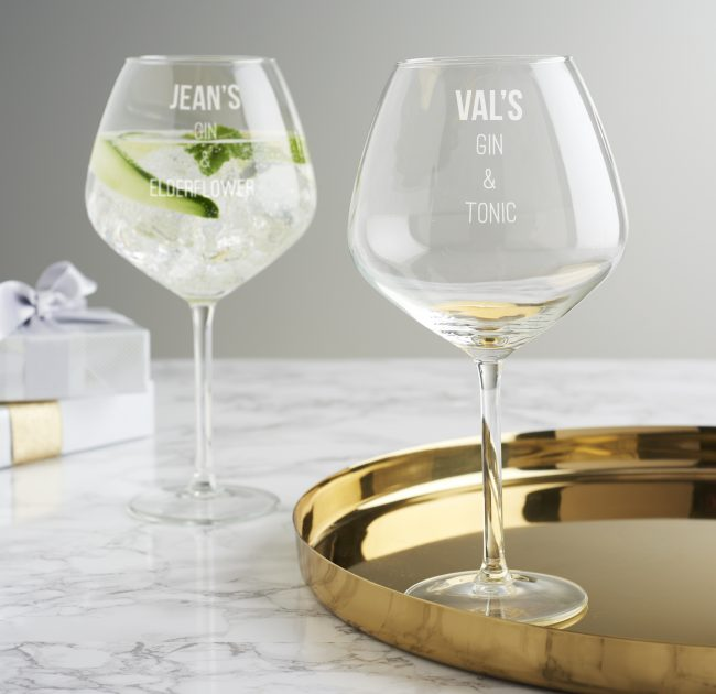 Personalised Mixers Gin Goblet