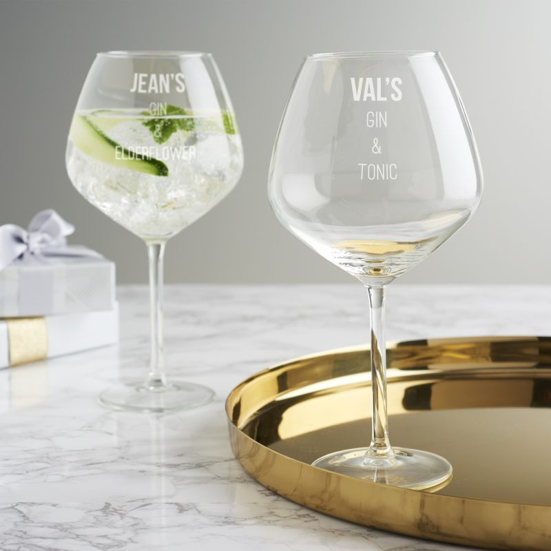 Personalised mixers goblet becky broome becky broome for Best mixers for gin
