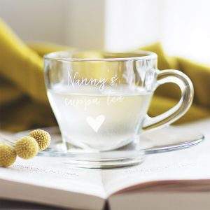 Personalised Teacup & Saucer For Her Detail Lifestyle